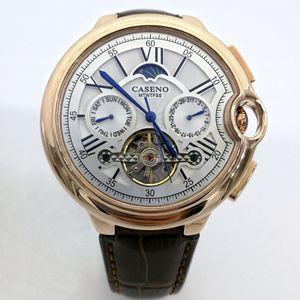 Top Brand Luxury Watch Joker Tourbillon Automatic Rose Gold Watch Men Stainless Steel Waterproof Business Mechanical Wristwatch