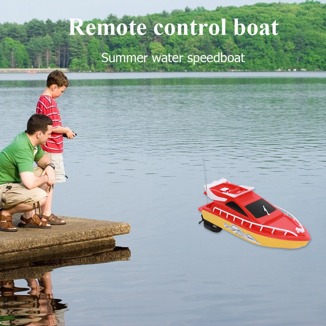 RC Boat Kids Toy Super Mini Speed Remote Control Ship 2 Colors 20M High Performance Electric Boats Toys For Children Barco Gifts 4