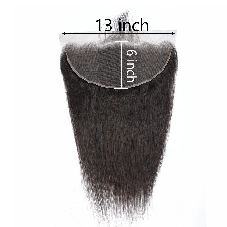 Yyong Peruvian Straight Human Hair Lace Frontal Closure 13x6 Ear To Ear Lace Frontal Swiss Lace Remy Can Be Bleached