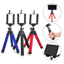 Mini Tripod Portable Flexible Sponge Tripod With Phone Clip