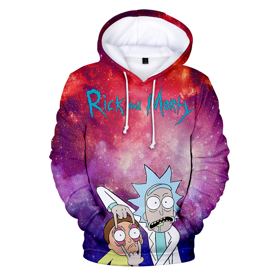 Rick And Morty New 3D Hoodies Kanye+wes Sweatshirts Women/Men Harajuku Streetwear Hoodies Trendy Clothes Kid Size And Adult Size
