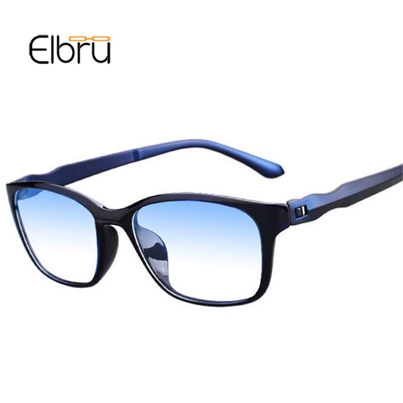 Elbru Square Anti Blue Light Plain Glasses Frame Optical Spectacle Glasses Myopia Eyeglasses Frames For Female&Male