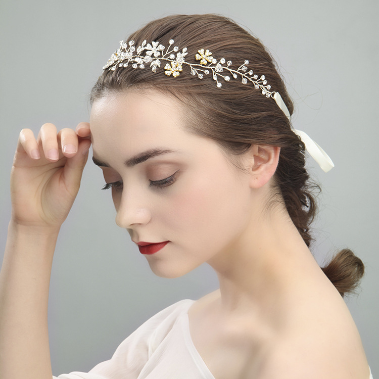 Le liin, новинка, ручная работа, лента для волос, свадебная, кристалл, сплав, украшение на голову, модное украшение для волос, свадебная повязка на голову