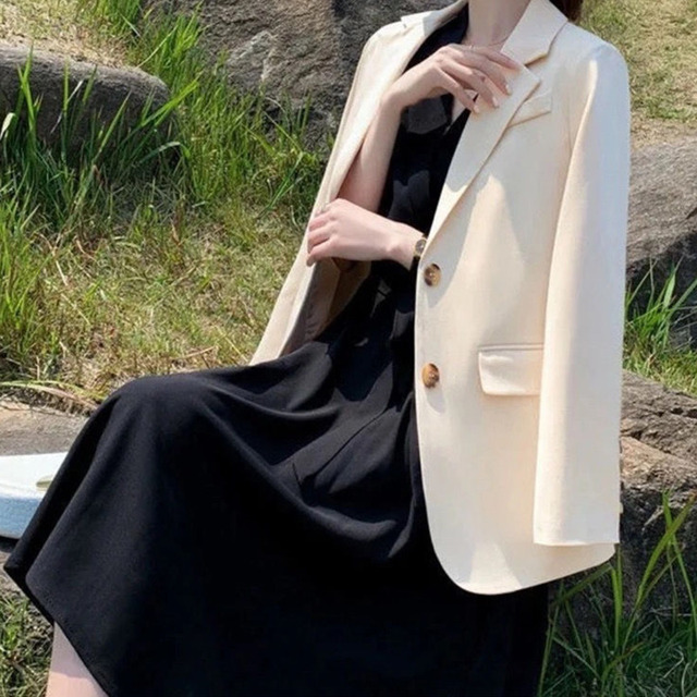 Pink Blazer Women's Korean Version British Fashion Chic Streetwear Office Ladies Elegant Casual Loose Long Sleeve Jacket 6