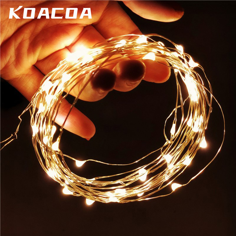 1M 2M 3M 5M 10M Silver Wire Fairy Garland Bottle Stopper For Glass Craft LED string lights Wedding Christmas Holiday Decoration(China)