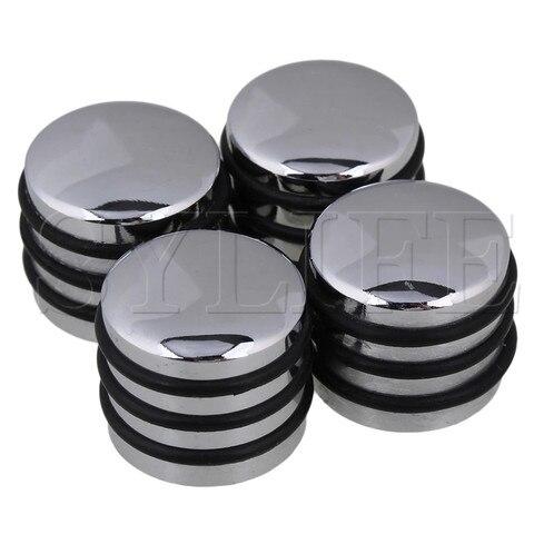 Botões de Controle Rotativo para 6mm O-ring Guitarra Baixo Spline Eixo Sliver 4 Pçs