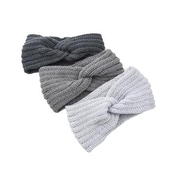 2020 New Knitting Woolen Headband Solid Women Hairband Crochet Weaving Cross Handmade DIY Hair band For women Aaaessories