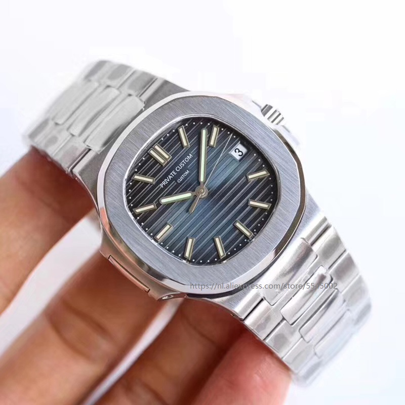 Horloge Mannen 41 Mm Automatische Mechanische Horloge Waterdicht Lichtgevende Stalen Horloge Nautilus Rvs Case Stalen Armband Aa