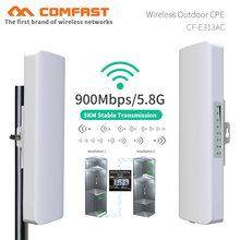 2 adet 5KM uzun menzilli erişim noktası yüksek güç kablosuz köprü wifi CPE 5.8G 900Mbps WIFI genişletici anten wi fi tekrarlayıcı AP yönlendirici