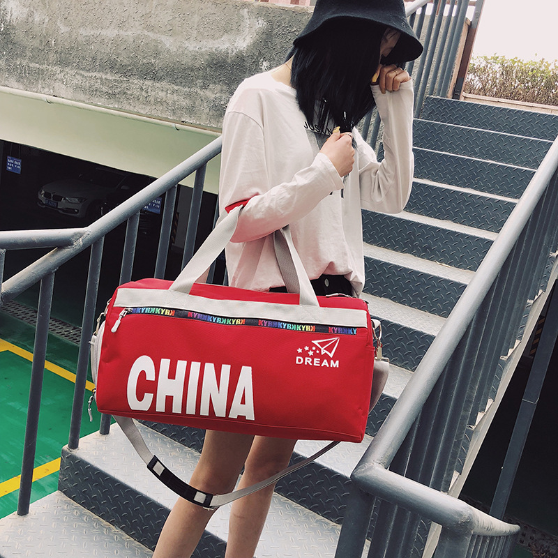 2019 New Luggage Bag Handbag Shoulder Bag Fitness Bag Women's And Men's Basketball Bag Shoe Position Handbag