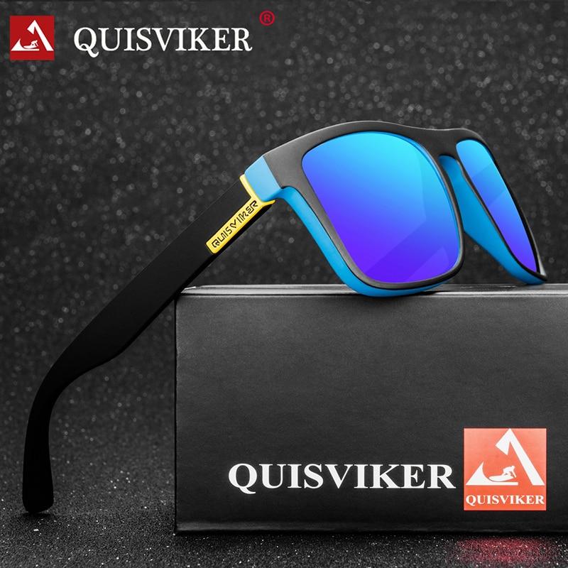 QUISVIKER BRAND DESIGN Polarized Sunglasses Men Women Driving Sun Glasses Male Square Goggles UV400 Eyewear (No Paper Box)