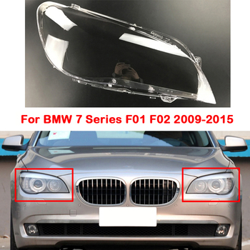 Front Car Lens Headlight Headlamps Transparent Lampshades Lamp Shell Headlights Cover For BMW 7 Series F01 F02 2009-2015