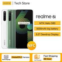 Original realme 6i versão global ram 4gb rom 128gb celular mtk heliog80 5000mah 18w carga rápida 48mp quad android 10 celular