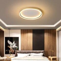 Nowy RC złoto/czarne wykończenie nowoczesny żyrandol led do salonu sypialnia gabinet domu 110V 220V żyrandol lampy