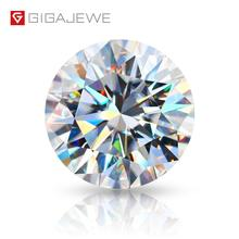 Gem Diamond Jewelry-Making Moissanite GIGAJEWE D-Color VVS1 Round with Certificate Lab