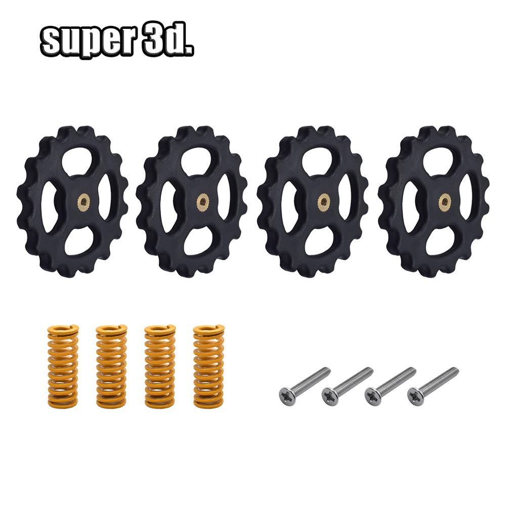4 Set/Lot 3D Printer Parts Heated Bed Spring Leveling Kit+M4*40 Screw&nut For Cr10 Ender-3 Um2 Prusa I3 Mk2/mk3 Hotbed