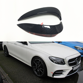 For Mercedes BENZ E Class W213 4DR Sport E43 E63 E400 E300 Front Bumper Splitter Vent Flaps Lip Carbon Fiber Look