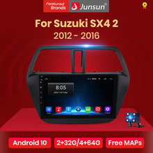 Junsun V1 pro Carplay Android 10 AI Voice Control For Suzuki SX4 2 S-Cross 2012 - 2016 Car Radio Player Navigation GPS 2 din dvd