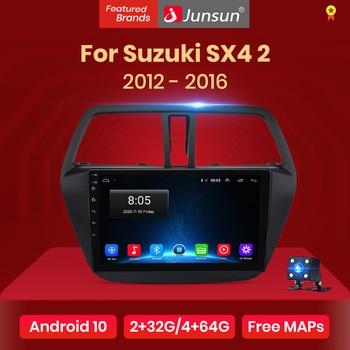 Junsun V1 pro Carplay Android 10 AI sterowanie głosem dla Suzuki SX4 2 s-cross 2012 - 2016 Radio samochodowe nawigacja GPS 2 din dvd