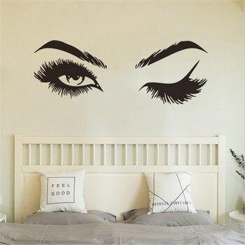 Calcomanías de pared de ojos sexis para decoración de dormitorio de niña para Mural de arte calcomanías de pared sexis