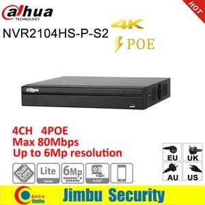 Image 4 - Dahua IP surveilliance מערכת NVR ערכת 4CH 4K וידאו מקליט NVR2104HS P 4KS2 & Dahua 6MP IP מצלמה 4pcs IPC HDW4631C A