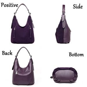 Image 3 - New Buckskin Suede Crossbody Bags For Women 2020 Luxury Handbags Women Bags Designer Vintage High Quality Shoulder Bag For Lady