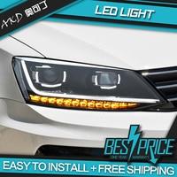 AKD Cars Styling Headlight For VW Jetta MK6 B8 2012 2018 Type Headlights LED Running lights Bi Xenon Beam Fog lights Auto level