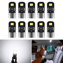 10 шт w5w t10 Светодиодный лампочки canbus 168 194 светодиодный