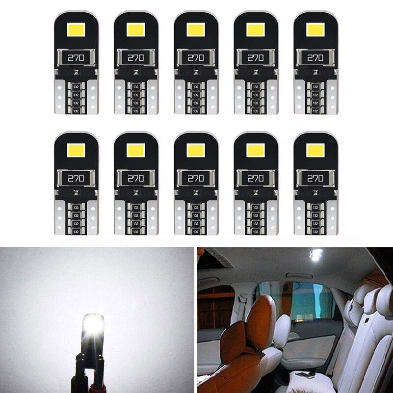 10 pçs w5w t10 led canbus lâmpadas 168 194 led luz interior do carro para vw golf 4 5 6 7 gti passat b5 b6 b7 cc beetle polo jetta mk6