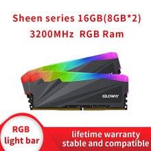 Gloway sheen série 8gb 16gb ddr4 8gb ram desktop ddr4 pc4 8gx2 16g 3200mhz dimm 3000 3200 rgb ram