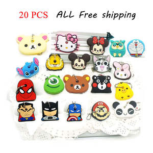 20 PCS a set cartoon Silicone Protective key Case Cover For key Control Dust Cover Holder Organizer Home Accessories Supplies