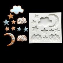 Fondant Cake Decorating-Tools Bakeware Sugarcraft-Mold Stars Silicone 10pcs Shapes Clouds