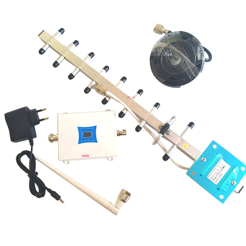 VOTK NEW DESIGN 4G LTD SIGNAL BOOSTER CELLUAR 1800MHZ 4G SIGNAL REPEATER MOBILE SIGNAL AMPLIFIER WITH YAGI ANTENNA