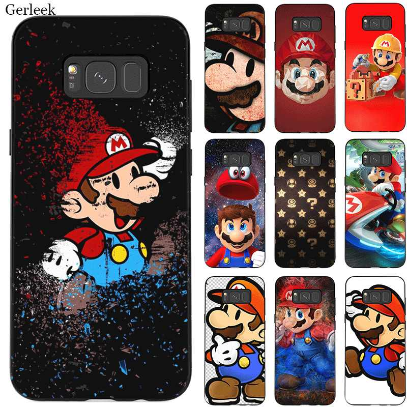 Caixa do telefone para Samsung M10 M20 M30 M40 S6 S7 Borda S9 S8 S10 S10E Plus Nota 8 9 10 Dos Desenhos Animados Super Marios Bonito