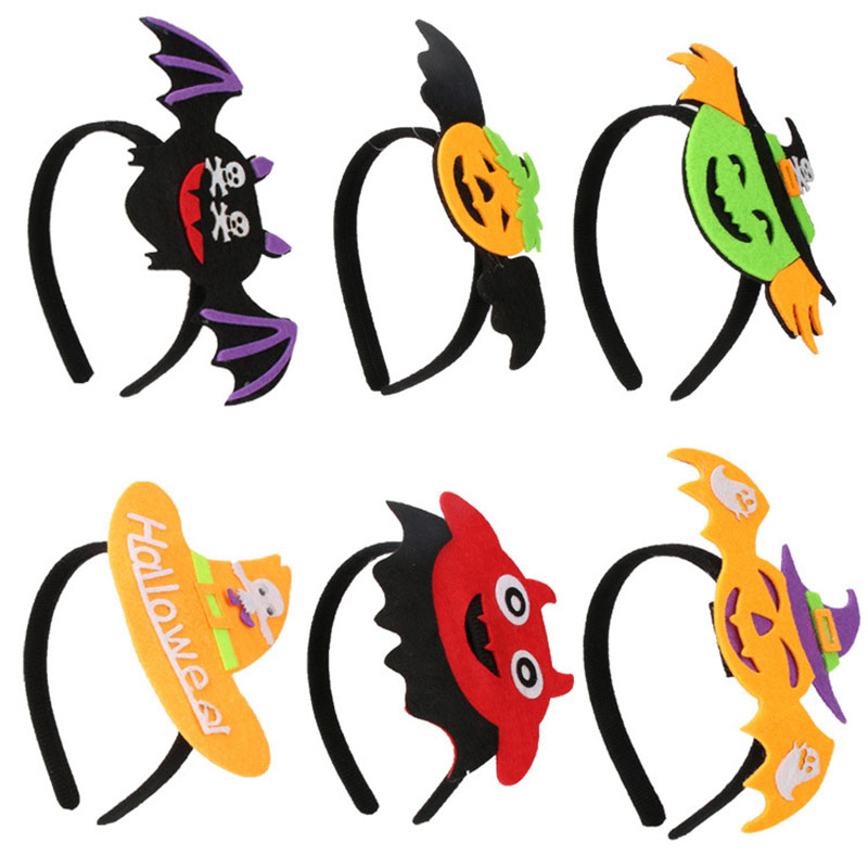 1Pcs Classic Fashion Nonwovens Adjustable Halloween Cartoon Hats Creative Cute Children Ornament Festive Children Party Toys
