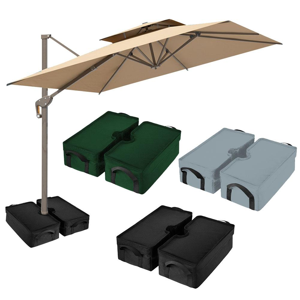Square Parasol Weight Sand Bag For Outdoor Patio Sunshade Parasol Umbrella Base Base Beach Fishing Camping Umbrella Props
