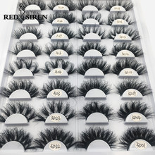 RED SIREN 25 mm Mink Eyelashes Fluffy Messy Long 3d Mink Lashes Dramatic Lasting False Eyelashes Makeup Wholesale Mink Lashes