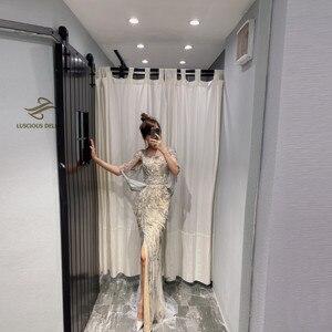 Image 2 - ダイヤモンドビーズノースリーブマーメイドフォーマルドレス2020新ドバイevenningドレス