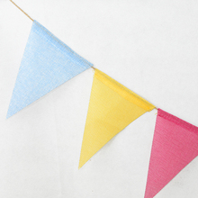 1 set hot sale mexican banner garland wedding flag banner decorations for themed party halloween birthday party 3.5M Color Retro Linen Banner Pennant Wedding Birthday Party Bar Garland Decoration Baby Shower Pull Flag