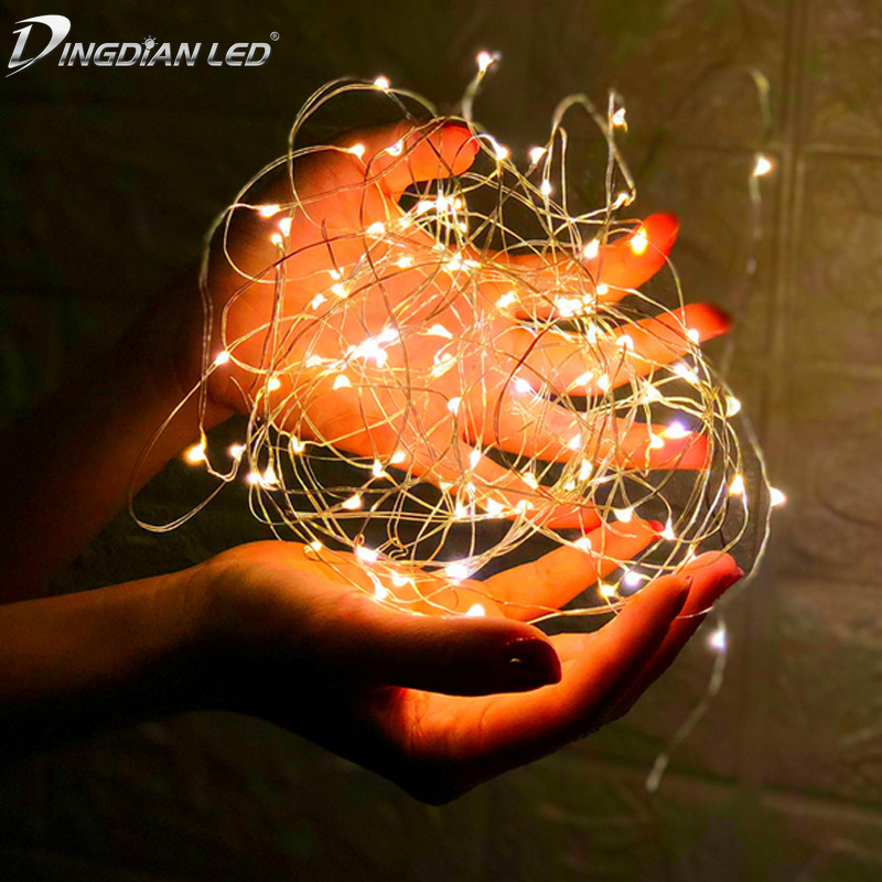 LED String Light Copper Wire Fariy Light,USB/Battery Operated Garland Decoration 2M 5M 10M Wedding Christmas Light Party Lights