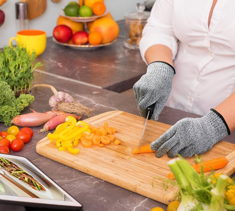 Anti-cut Gloves Working Safety Glove Man Cut Proof Kitchen Butcher Cut Heat Stab Resistant Fire Hand Gloves Durable Self Defense