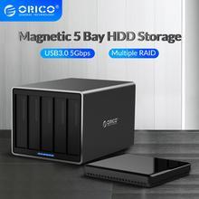 ORICO NS Series 5 Bay 3.5 ''USB3.0 z RAID stacja dokująca HDD 78W zasilacz obudowa dysku twardego wsparcie skrzynki 5gbps obudowa HDD