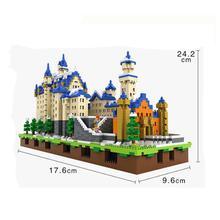 hot LegoINGlys creators city New Swan Stone Castle mini micro diamond building blocks architecture model bricks toys for gifts