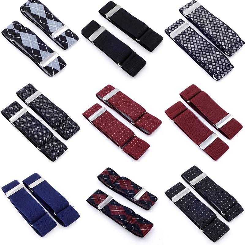 1 Pair Unisex Armbands Sleeve Garter Adjustable Gift Shirt Sleeve Holders Cufflinks Business Wedding Groom Accessories
