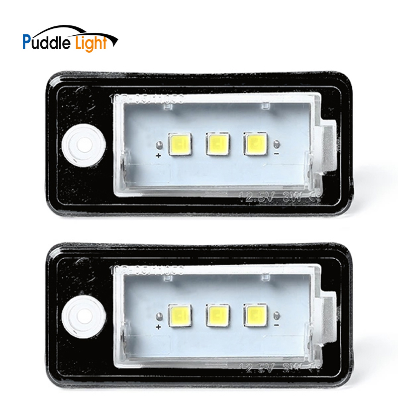 2Pcs Canbus Error Free White LED Number License Plate Lights For <font><b>Audi</b></font> Q7 A3 A4 A5 A6 <font><b>A8</b></font> S3 S4 S5 C6 S6 S8 RS4 RS6 image
