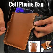 Funda de cuero a la moda para teléfono iPhone 8 8P X XS, riñonera pequeña, monedero para teléfono, funda Vintage con bolsillo para teléfono