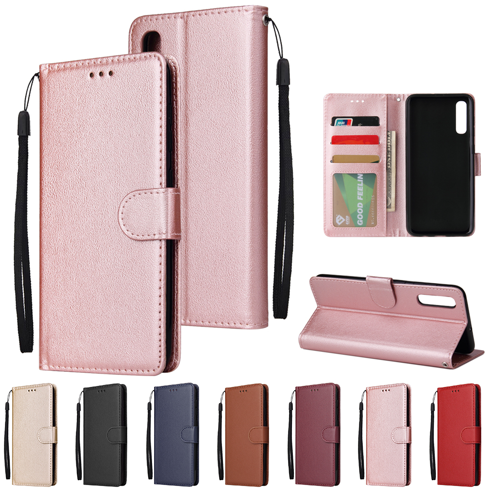 For <font><b>Samsung</b></font> <font><b>Galaxy</b></font> A3 A5 A6 A7 A8 A9 A10 A20 A30 A40 A50 <font><b>A70</b></font> Solid Color Leather Wallet <font><b>Case</b></font> <font><b>Flip</b></font> Cover Card Slot Bag image