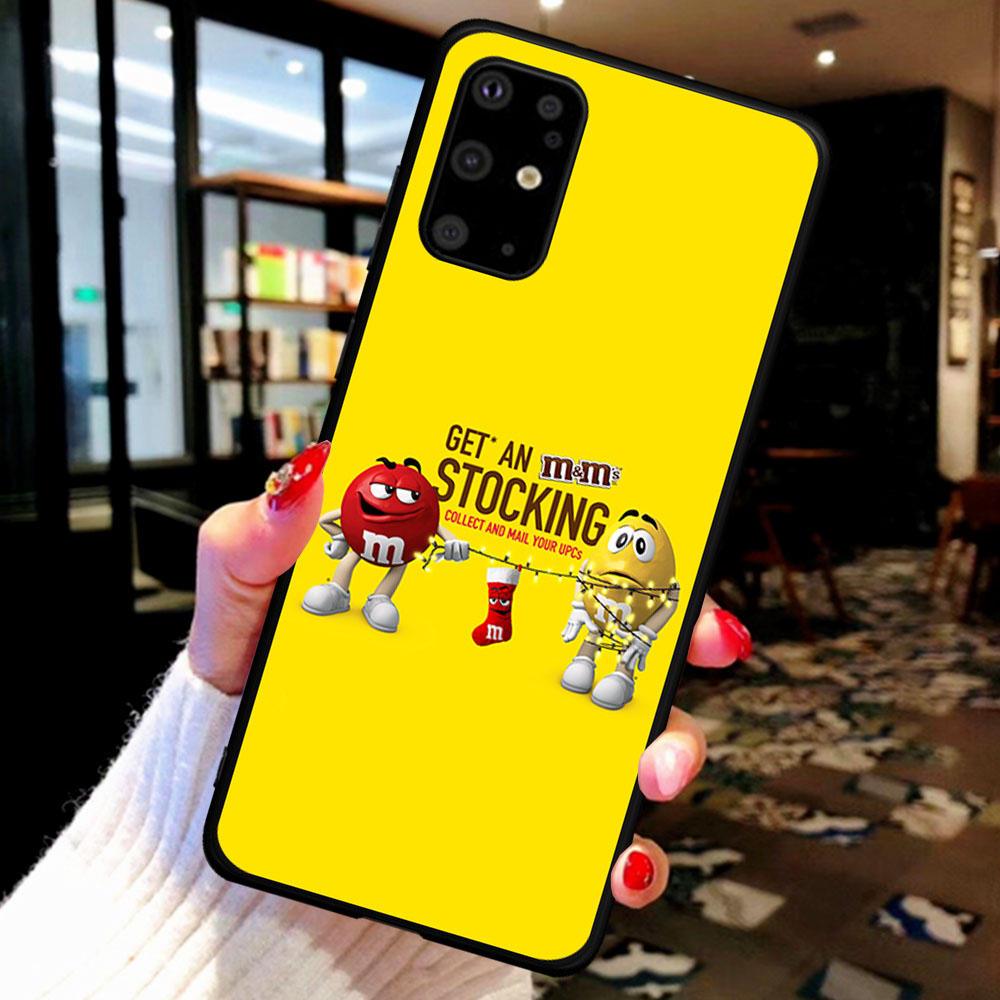 Funny Cartoon Chocolate Beans Cute Phone Case For Samsung S6 S7 S8 S9 S10 S20 S21 Plus Note 10 20 Plus Ultra Cover Coque