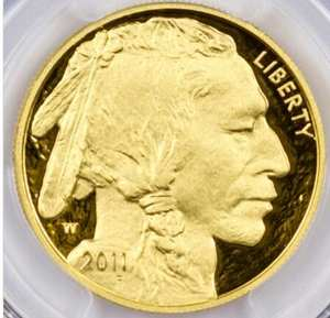 2011Buffalo .999 gold 1 ounce coin graded with PF70