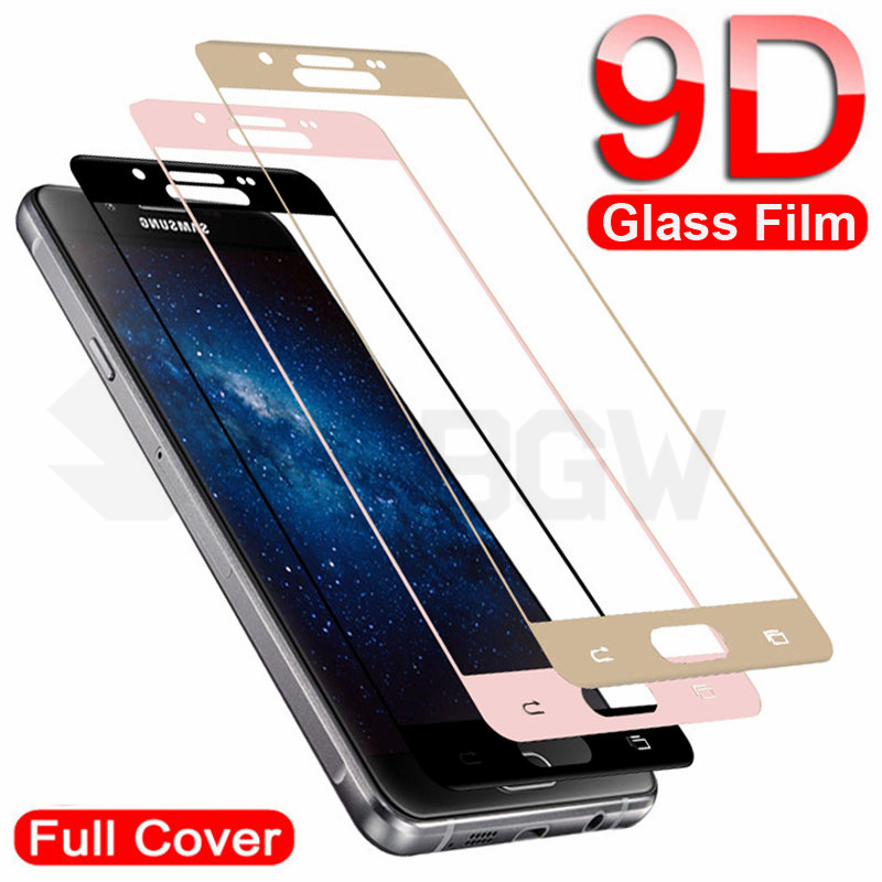 9D Full Cover Tempered Glass On For Samsung Galaxy A3 A5 A7 2016 2017 J3 J5 J7 2016 2017 Screen Protector Safety Protective Film